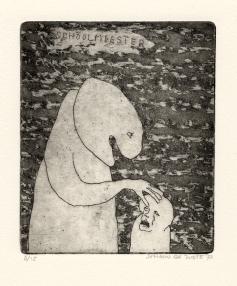 De schoolmeester, ets, 1973