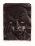Denken, carborundummezzotint, 1975