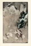 Vlucht, ets, 1973