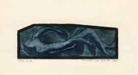 Geborgen, ets-aquatint, 1975