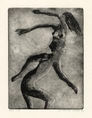 Gedachtensprong, ets-aquatint, 1974