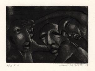 Gesprek, carborundummezzotint, 1975
