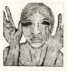 Handen, ets, 1974