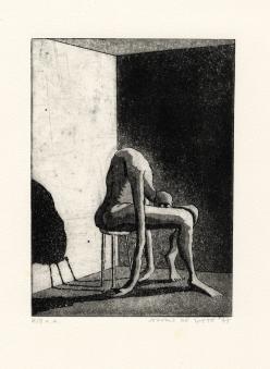 Hoe hopeloos kun je zijn, ets-aquatint, 1975