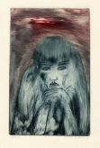 Portret, kleurets, 1973