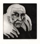 Man in bontjas, ets, 1982