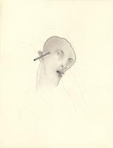 Man met Michelangelo-mond