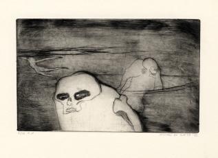 Schaatsenrijders, ets, 1973