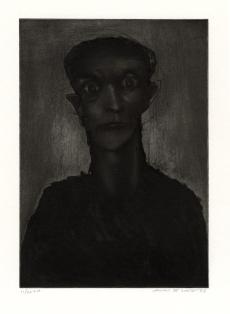 Spiral eyes, carborundummezzotint, 1985