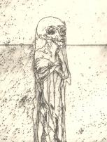 Staande skeletman