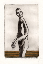 Wandelaar, ets-aquatint, 1975